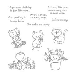 Pretty Kitty Clear-Mount Stamp Set