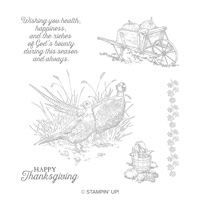 Pleasant Pheasants Clear-Mount Stamp Set