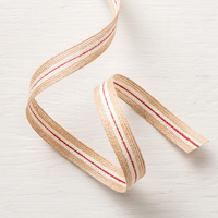 5/8 (1.6 cm) Striped Burlap Trim