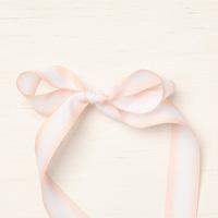 Petal Pink/Whisper White 5/8(1.6 Cm) Variegated Ribbon