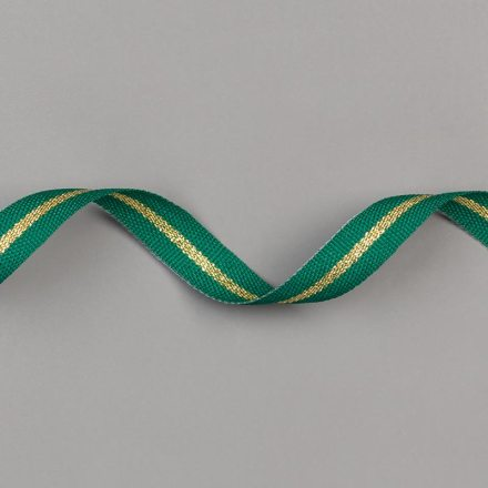 "SHADED SPRUCE/GOLD 3/8"" (1 CM) STRIPED RIBBON"
