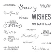 More Than Words Photopolymer Stamp Set