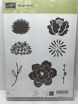 Stampin Up Secret Garden Simple Stems Retired Flower Stamp