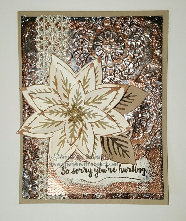 Flower punch art with Embossed Foil