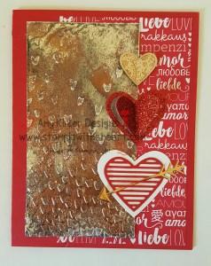 Falling Petals Textured Impressions Embossing Folder