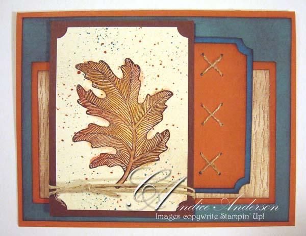 Fall Embossed Leaf