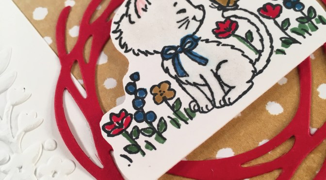 Close up of Pretty Kitty stamp set by Stampin' UP