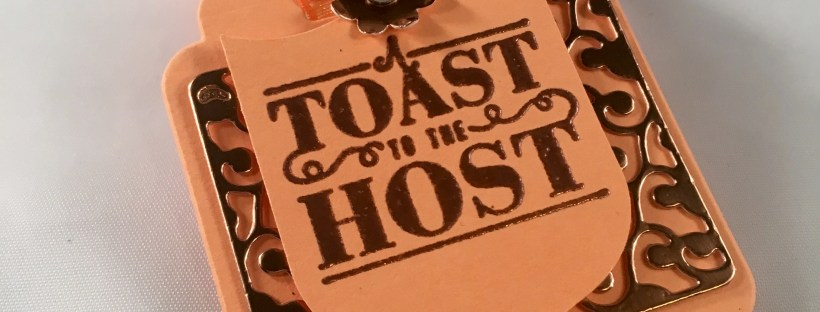 Picture of the Toast to The Host Wine Tag