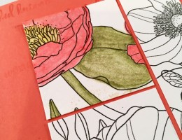 Image shows watercolored flowers close up