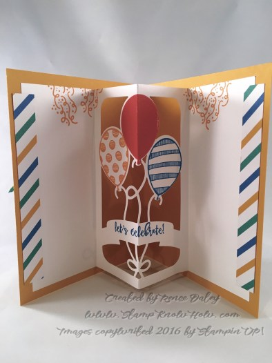 Image of balloon pop up insert in card