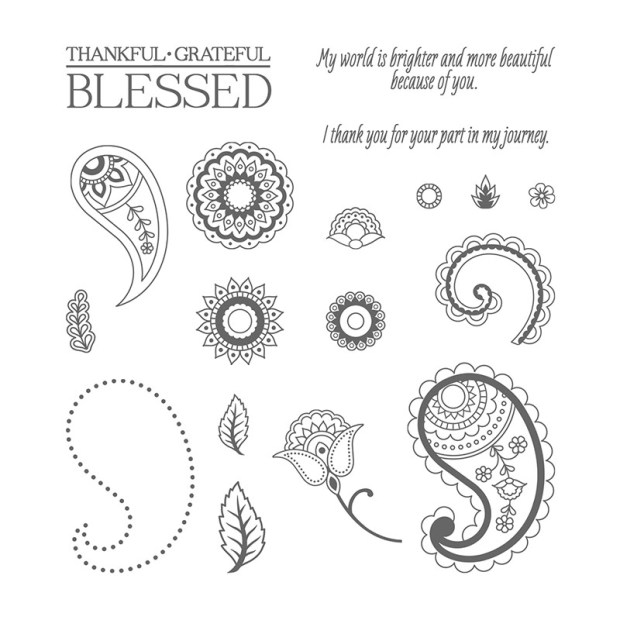 Paisleys & Posies Stamp Set Image