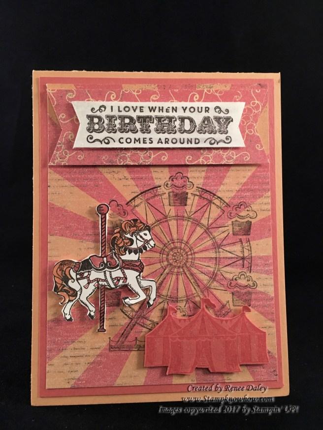 Image of Carousel Birthday Card