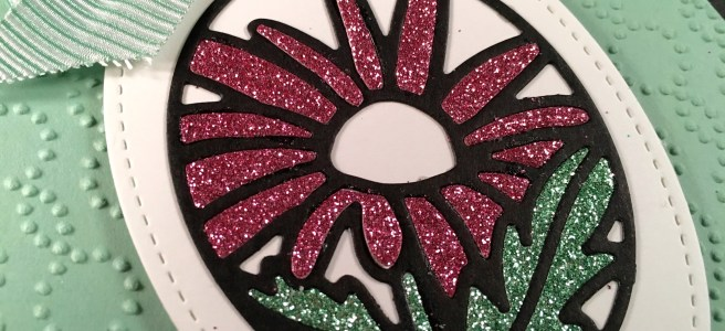 Close up Image of Timeless Tags Stained Glass effect flower