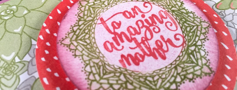 Closeup image of Amazing Mother's Day Card