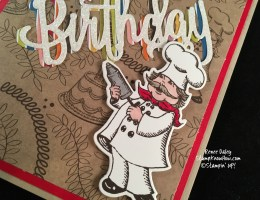 Closeup image of Baker from Birthday Delivery Photopolymer Bundle