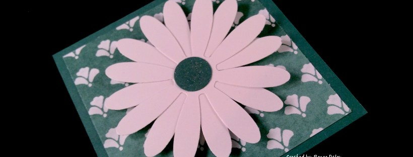 Close UP Image of Daisy Card using Tranquil Tide in color