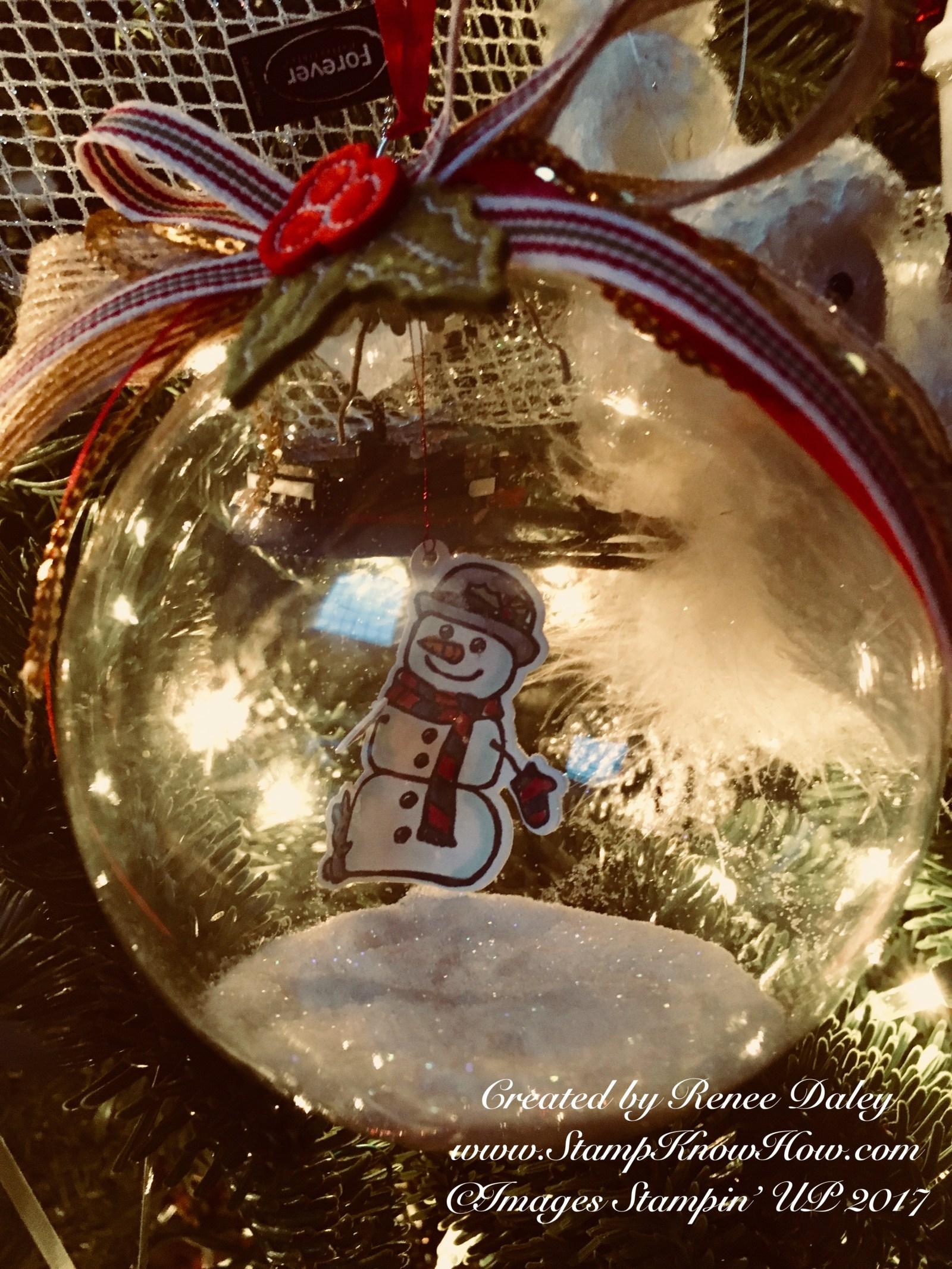 Seasonal Chums Ornament on Christmas tree