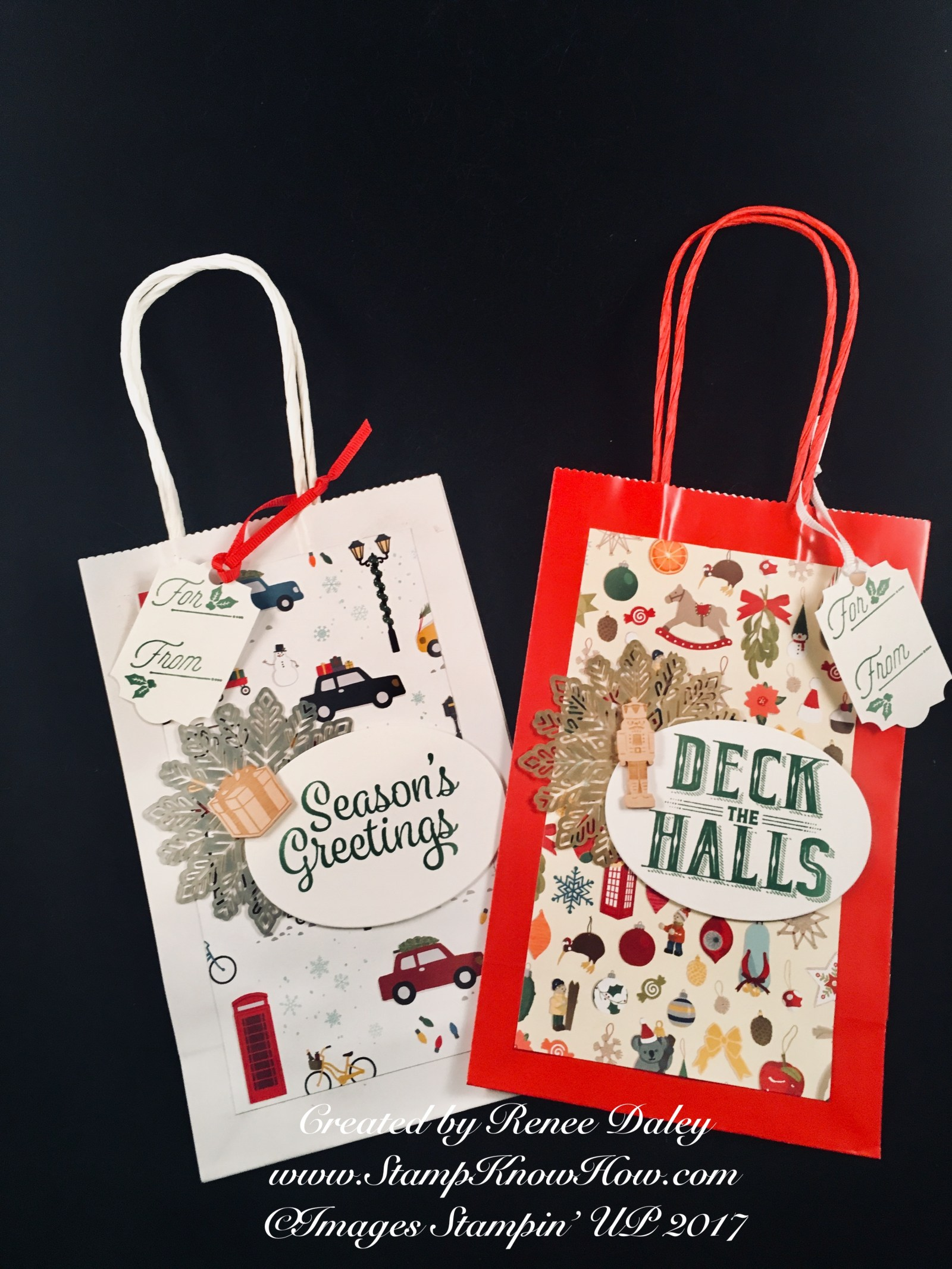 Christmas Around the World DSP gift bags