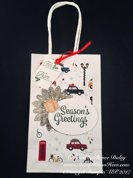 Seasons Greetings Christmas Gift Bag