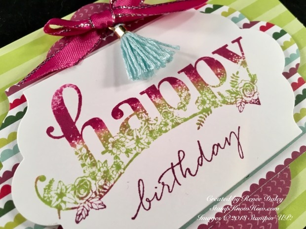 Close up image of Happy Wishes card