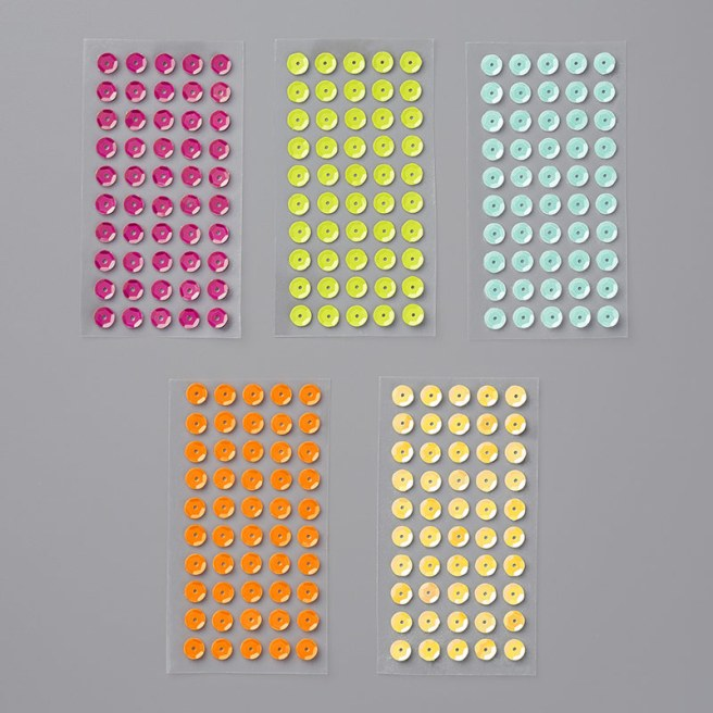 Tutti-Frutti Adhesive Backed Sequins