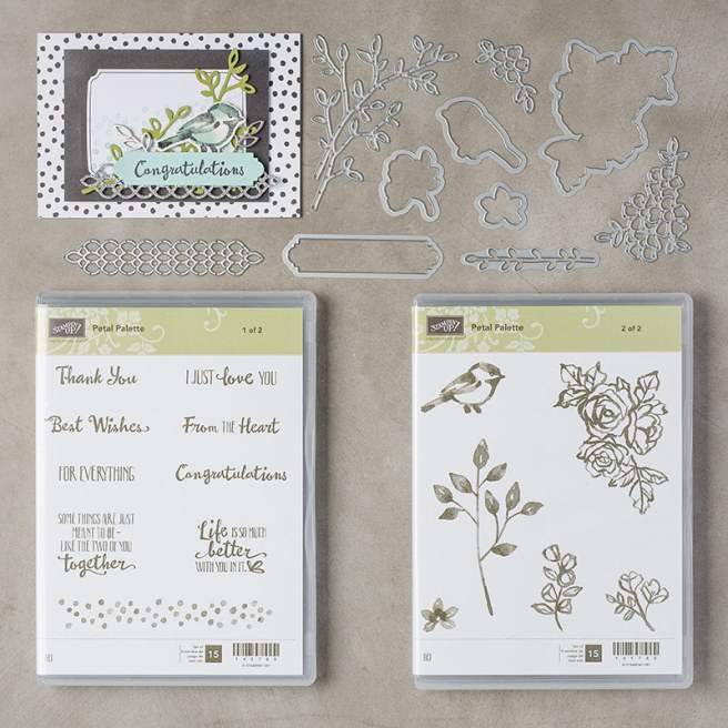 Petal Palette Clear Mount Bundle by Stampin' UP