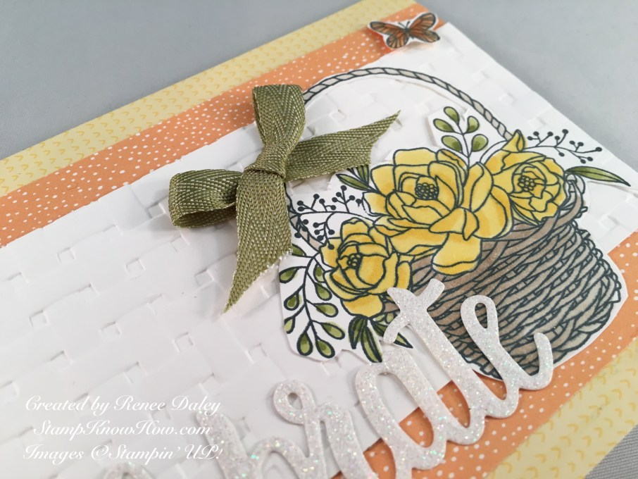 Closeup image of Card made with Blossoming Basket Bundle by Stampin' UP!