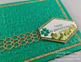 Closeup image of Saint Paddy's Day Card using Stampin' UP products