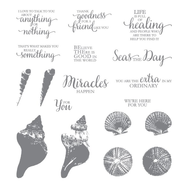 So Many Shells Stamp Set from the Stampin' UP Annual Catalog $26