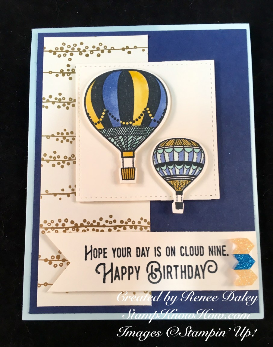 Lift Me Up Stamp Set and Up & Away Thinlits by Stampin' UP