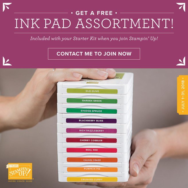 Join StampKnowHow's team during July and get FREE ink