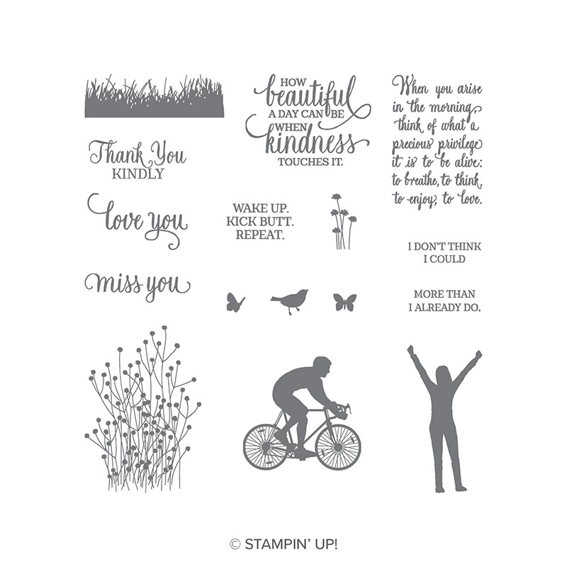 Enjoy Life Photopolymer Stamp Set by Stampin' Up