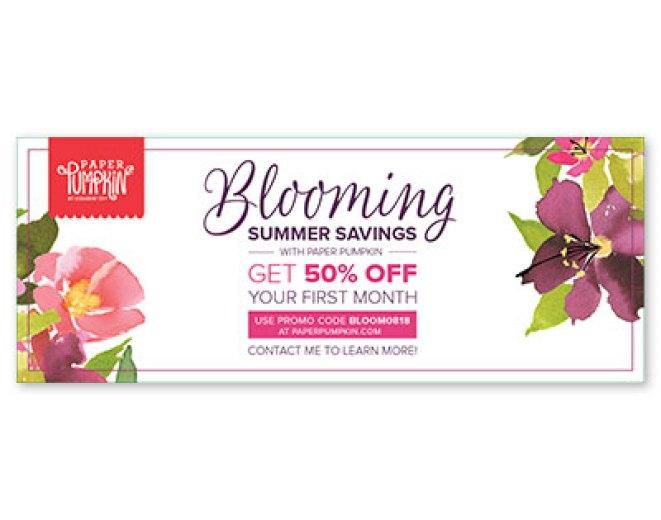 Summer savings on Paper Pumpkin