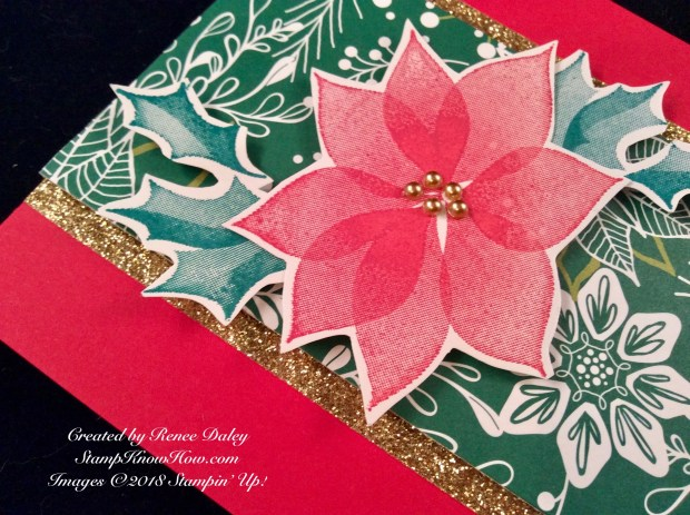 Closeup image of the poinsettia from the Stylish Christmas Stamp Set from Stampin' Up!