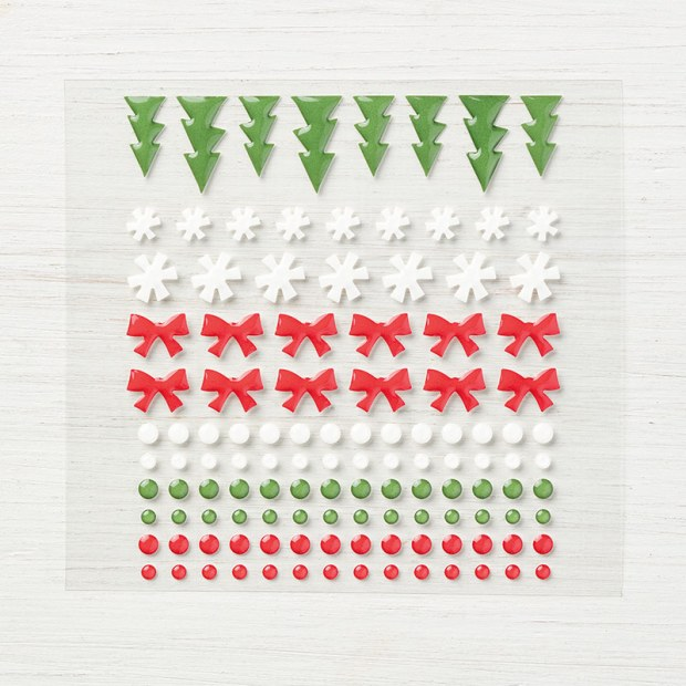 Santa's Workshop enamel shapes from Stampin' Up!