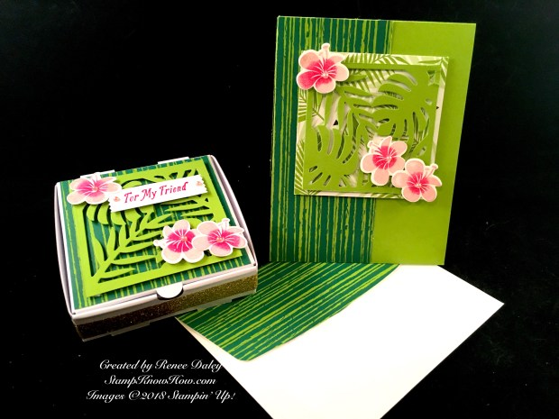 Tropical Chic Birthday Card & Matching Pizza Box