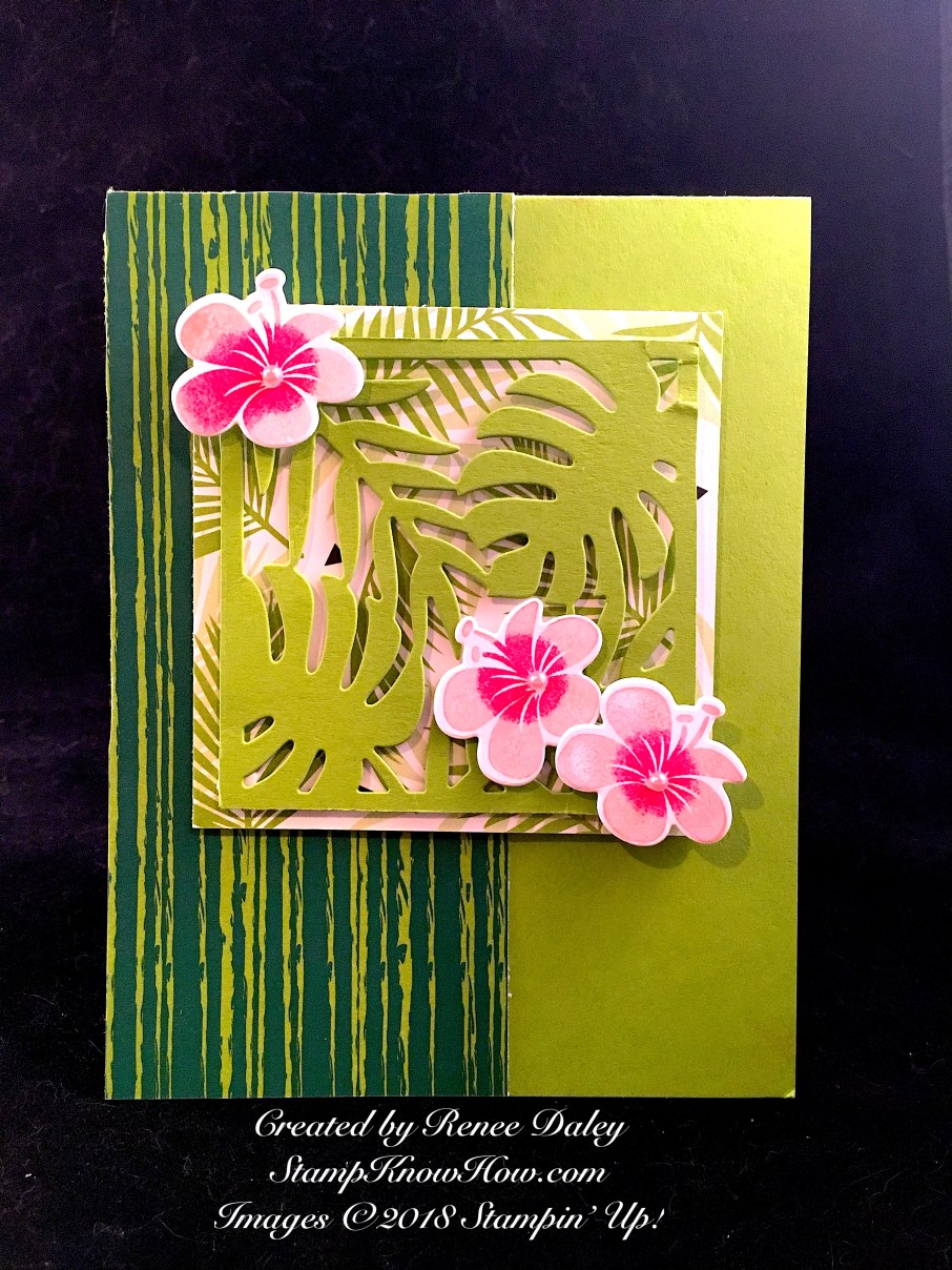 Tropical Chic Birthday Card from StampKnowHow.com