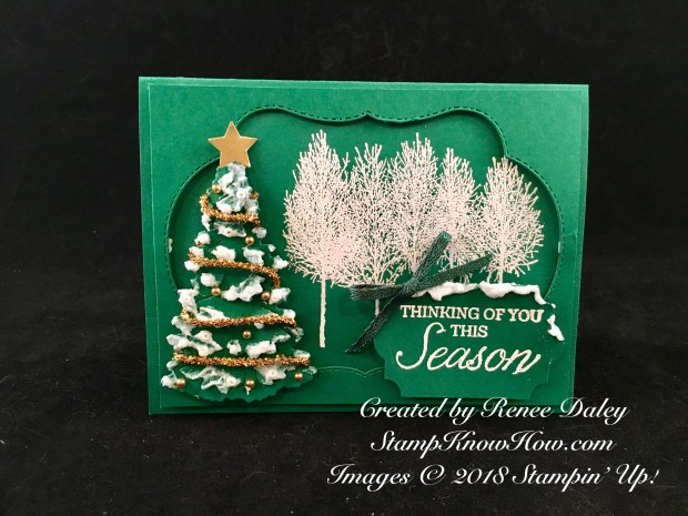 Winter Woods Bundle Card