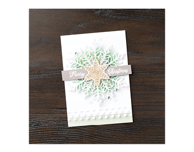 Snowflake Showcase Card by Stampin' Up!