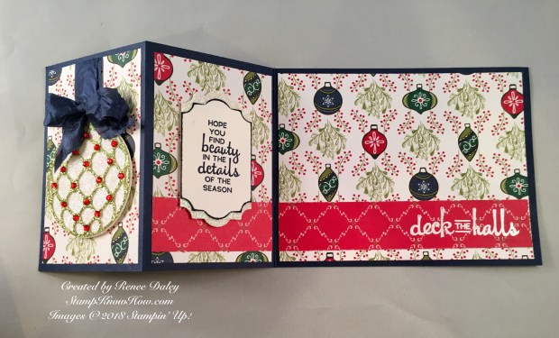 Beautiful Baubles Z-Fold Christmas Card