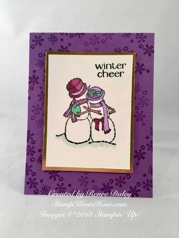 Spirited Snowmen Card by Renee Daley