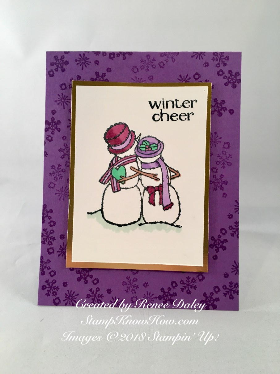 Spirited Snowmen Card by Renee Daley