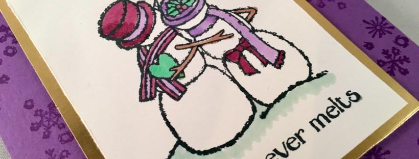 Contemporary Spirited Snowmen Christmas Card