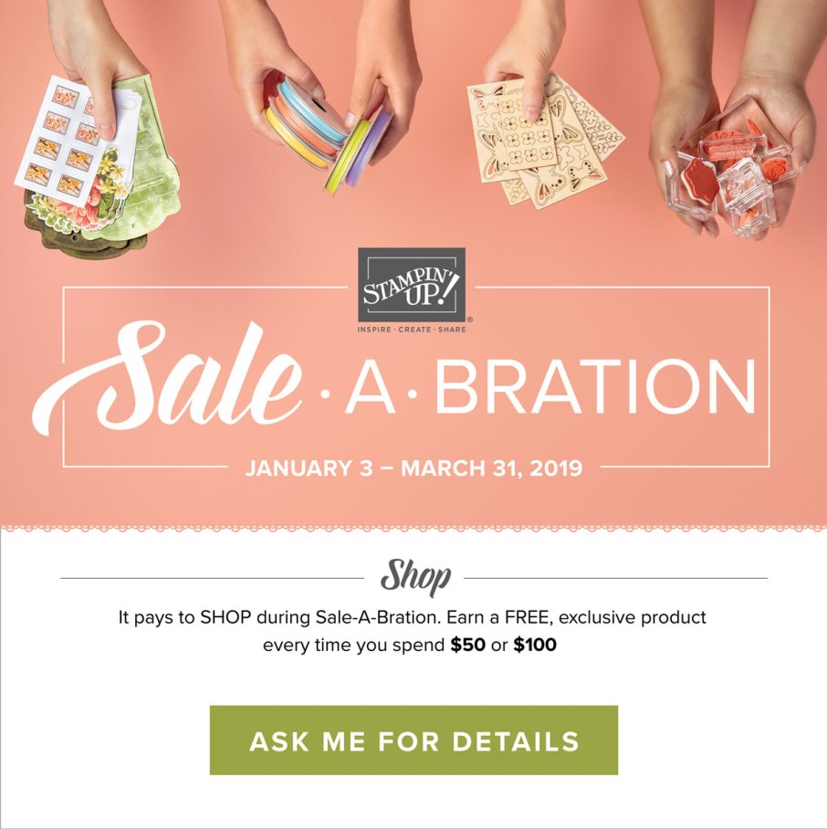 Sale-a-bration free products with purchase
