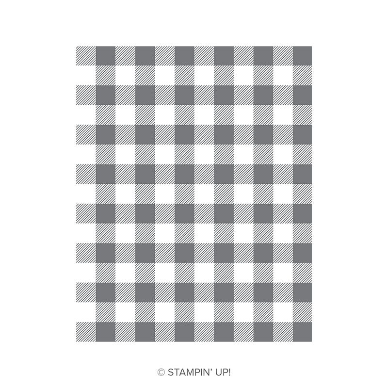 Buffalo Check Stamp by Stampin' Up