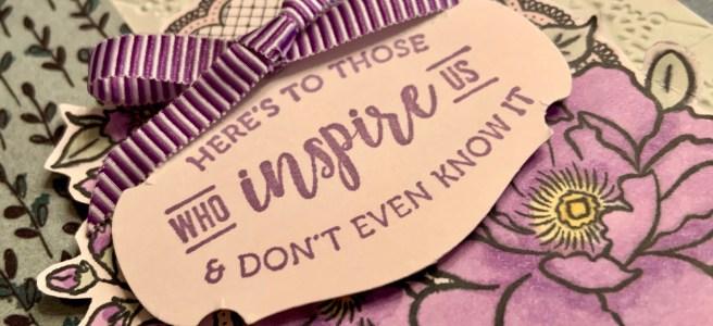 Lovely Lattice Card Closeup View