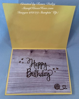 Inside view of nine lives birthday card