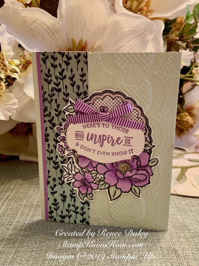 Lovely Lattice Card