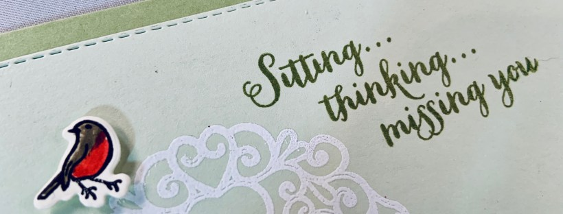 Sitting Pretty & Missing You Card