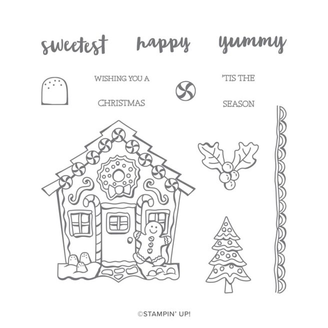 Yummy Christmas Photopolymer Stamp Set by Stampin' Up is in the 2019 Holiday catalog.  Purchases yours at StampKnowHow.com